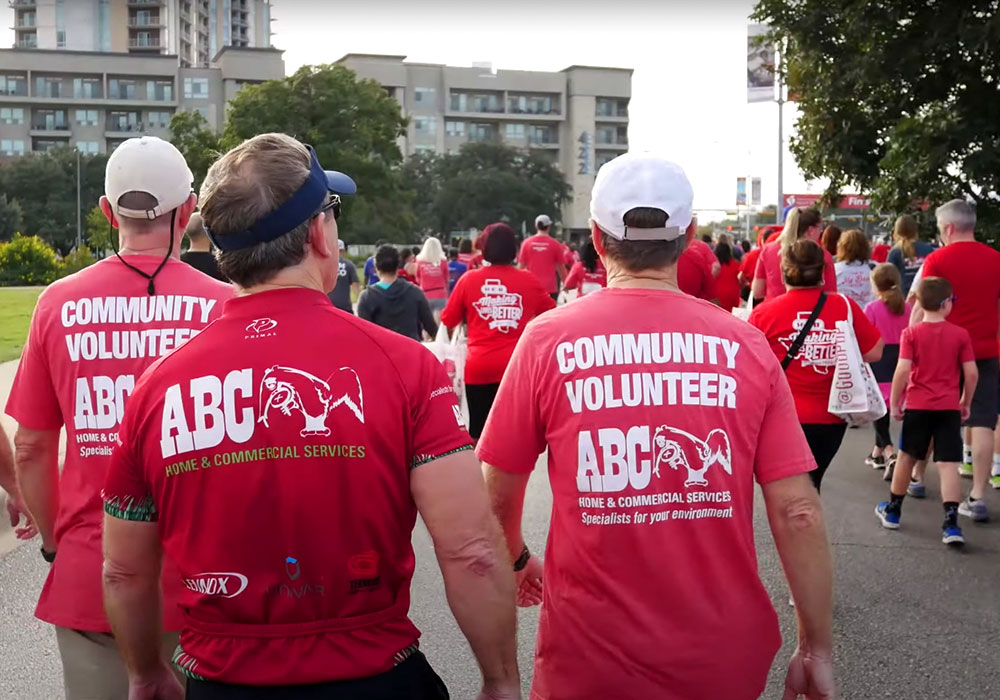 Community Volunteers from ABC at a community event