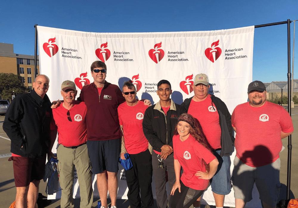 ABC team members attending the American Heart Association Walk