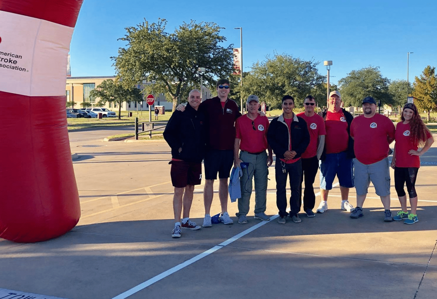 ABC team members at the American Heart Association Walk