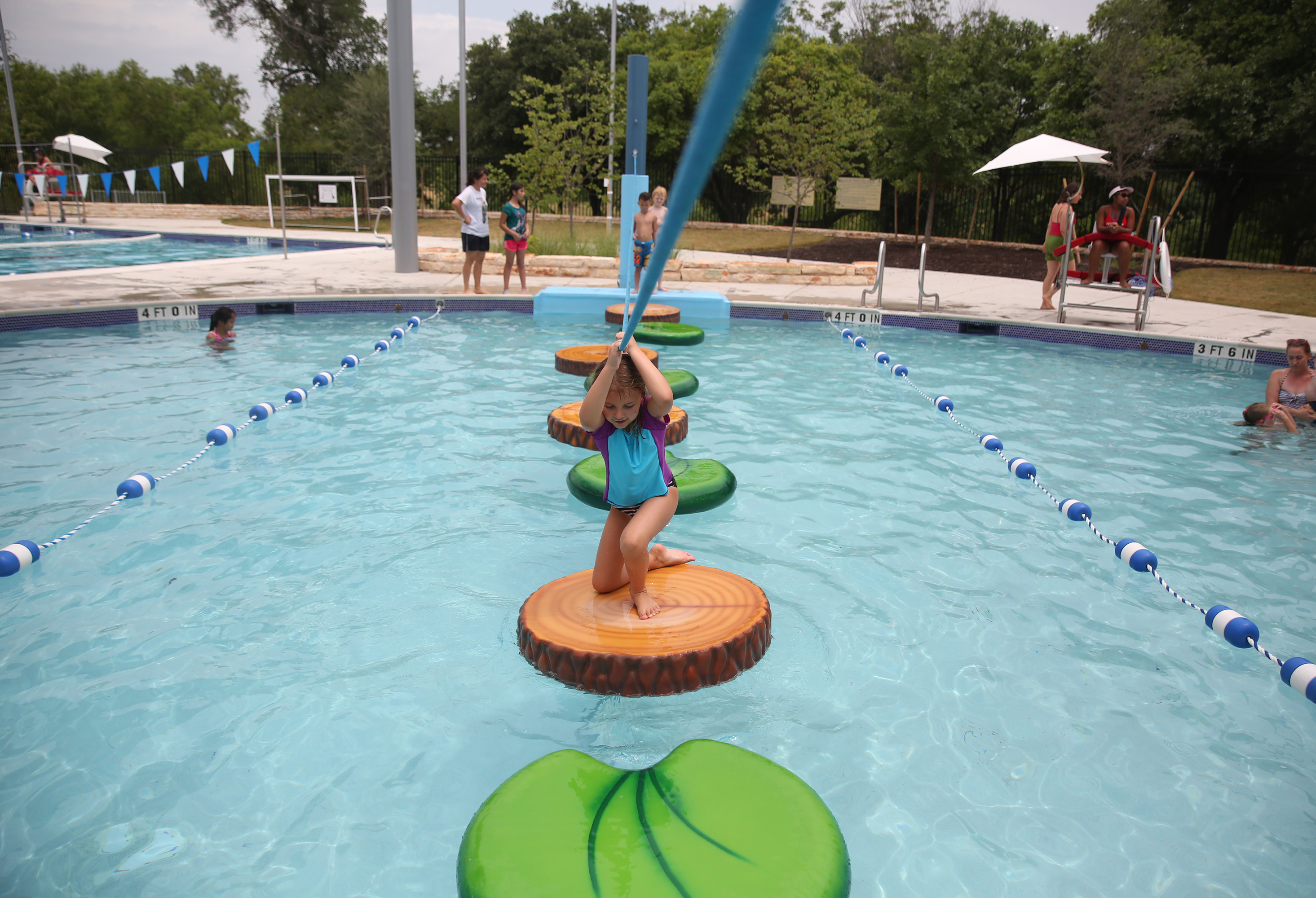 Austin has an abundance of swimming pools for families