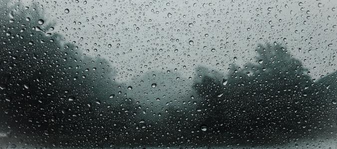 Outdoor AC Unit in Rain