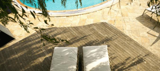 Inground pool opening