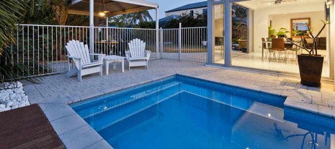 Comfortable pool temperature