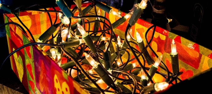 Where can I recycle Christmas lights