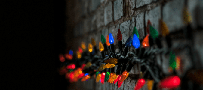 How to attach Christmas lights to brick