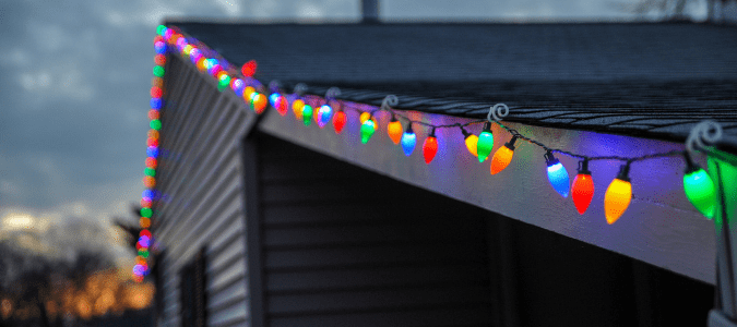 installing christmas lights on roof