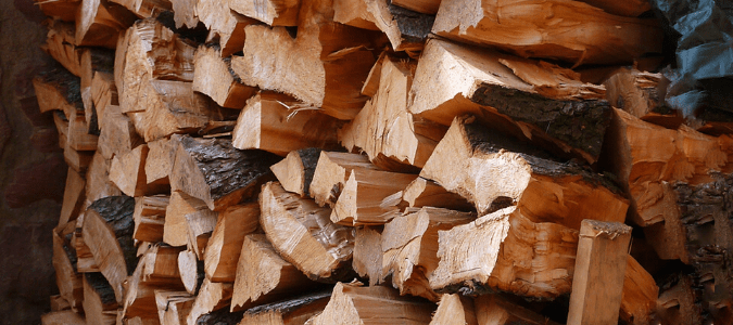 Stacks of firewood pressed against a home, something that will attract termites