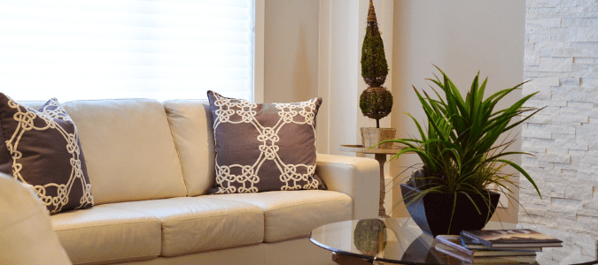 A white and brown living room