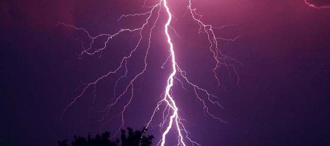 a lightning storm which can cause a power surge