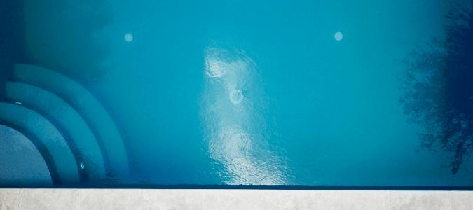 a cloudy pool