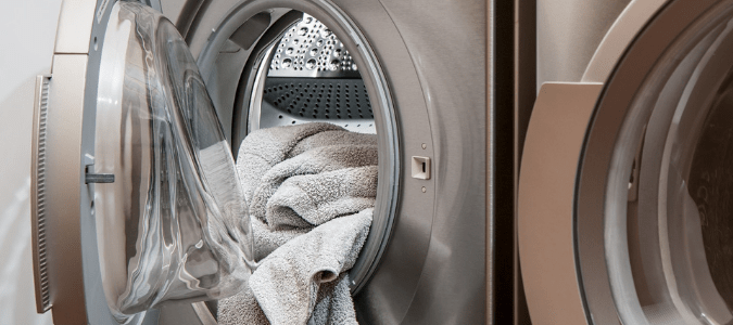 a stainless steel dryer with a clogged vent