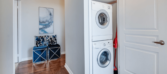 a white dryer that is not heating