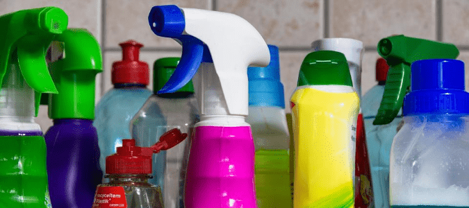 Products used to get rid of roaches.