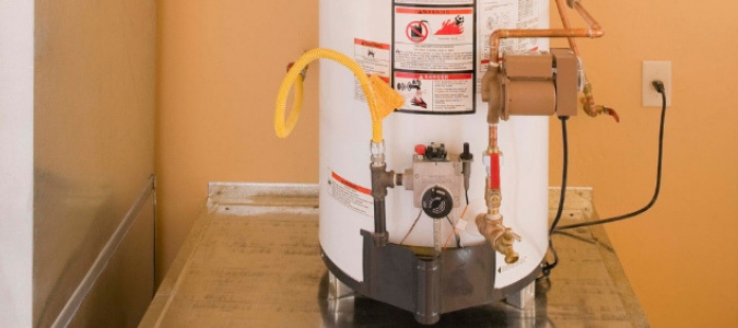 a tank water heater that is about to be taken out so the homeowner can convert to a tankless water heater