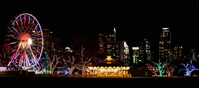 The trail of lights which is a longstanding holiday activity in austin