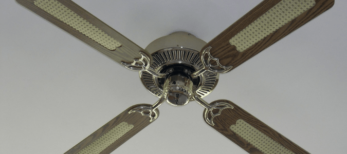 a ceiling fan that stopped working