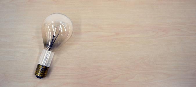 a burnt out light bulb