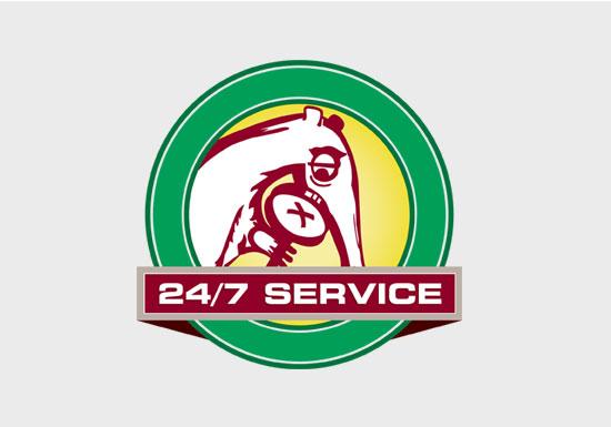 ABC Dallas 24-7 Emergency Services Badge