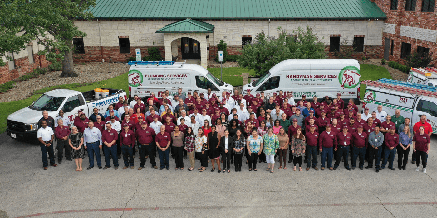 the ABC Dallas team standing outside of the Dallas office