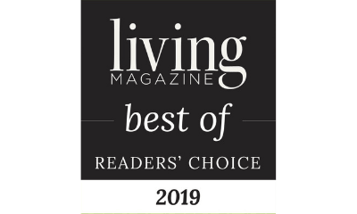 emblem for the best of Readers' Choice by Living Magazine in 2019