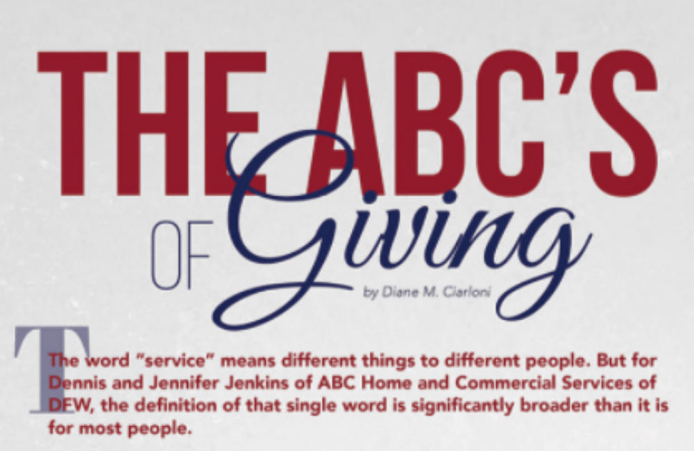 Dennis and Jennifer Jenkins share the ABC's of giving