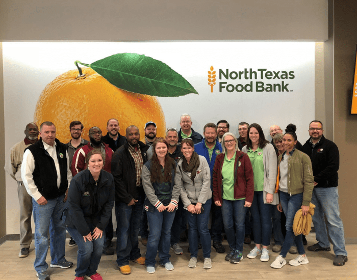 ABC team members giving back to the North Texas Food Bank