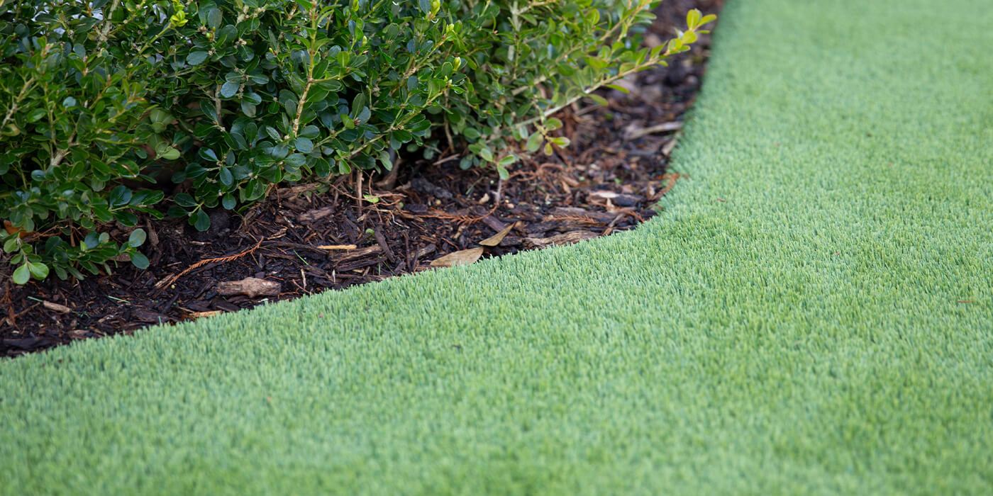 a close up of artificial turf laid by ABC lawn specialists