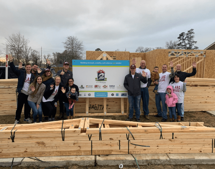 ABC team members building a home for Habitat for Humanity