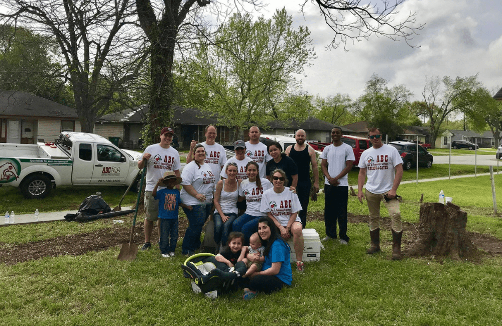 ABC team members volunteering for Habitat for Humanity
