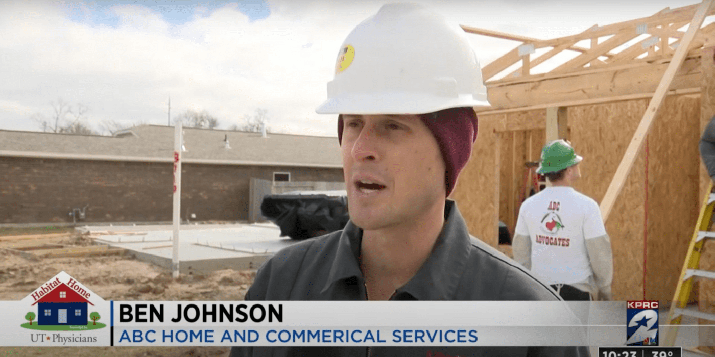ABC's Ben Johnson speaking with the local news station about ABC's involvement with Habitat for Humanity