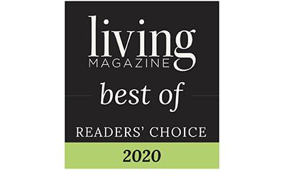 emblem for Best of Readers' Choice 2020 for Living Magazine