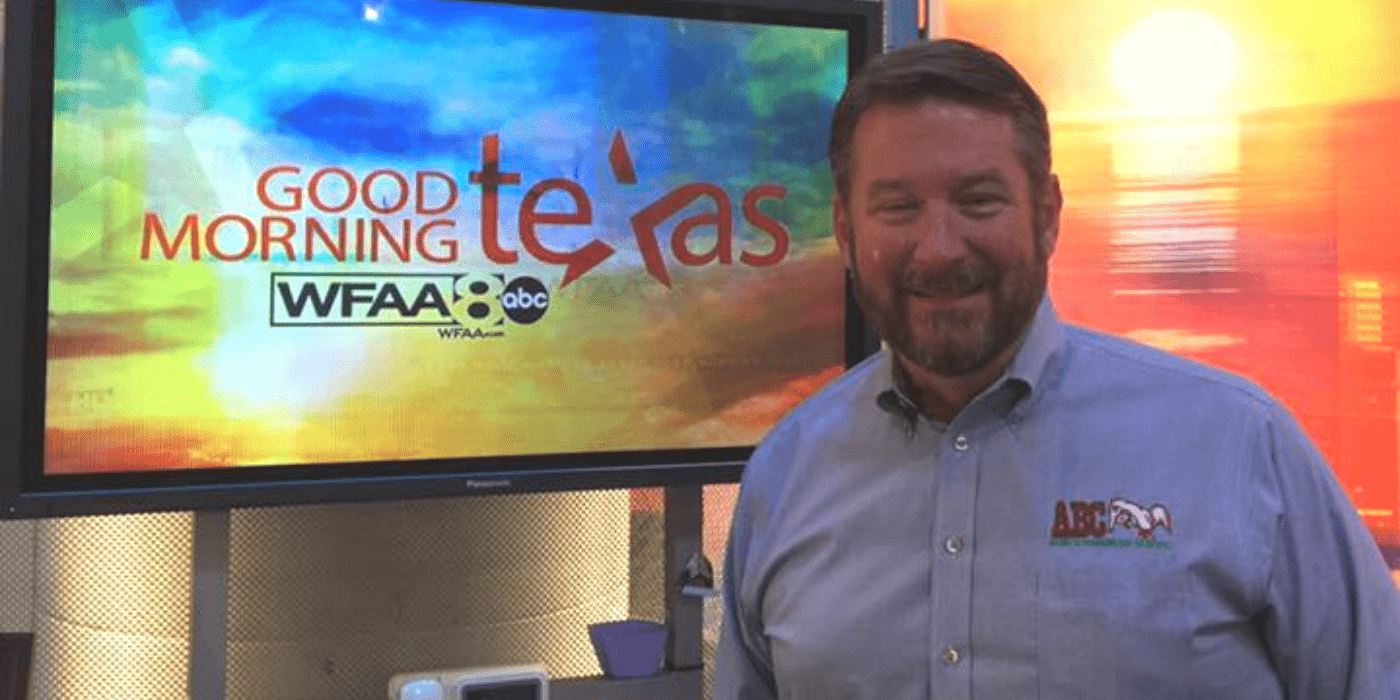 Dennis Jenkins speaking on Good Morning Texas