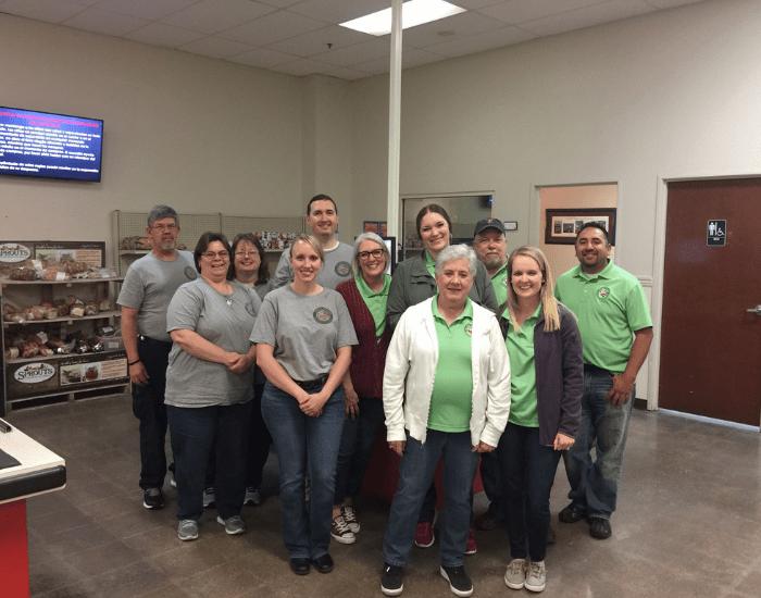 ABC team members volunteering at the CCA Pantry