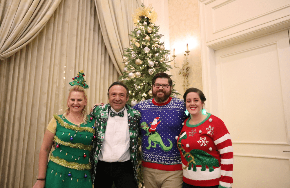 ABC team members at the annual holiday party