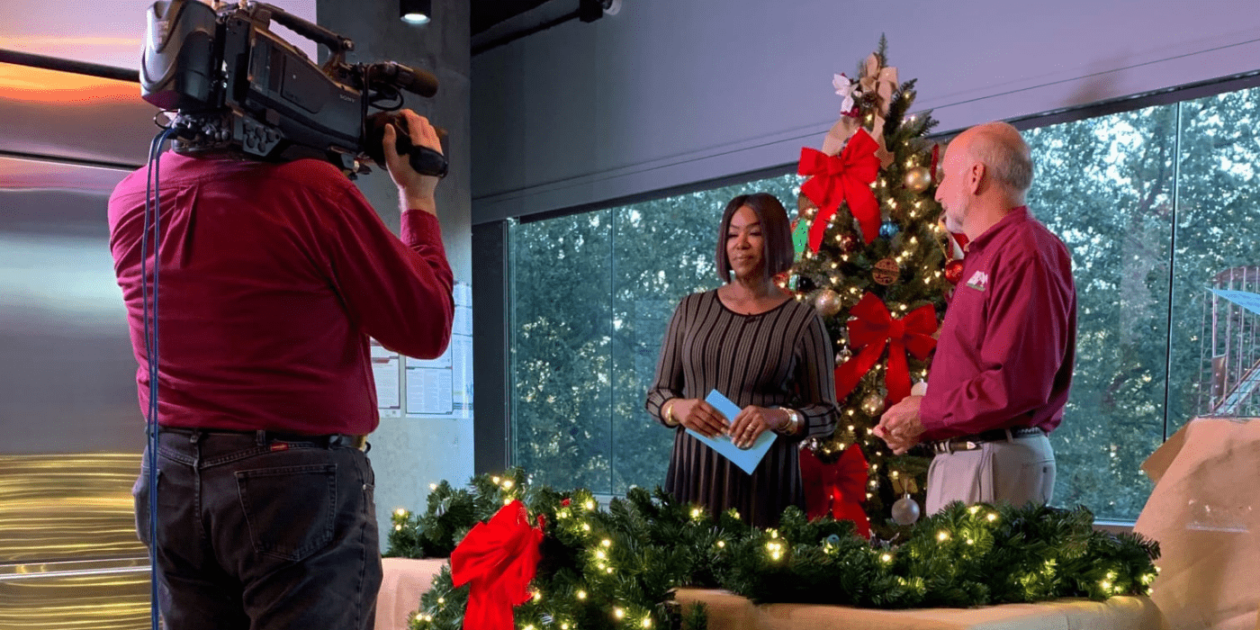 Raleigh Jenkins speaking on a local TV station