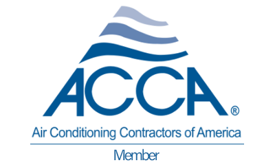 Logo identifying a company as a Air Conditioning Contractors of America member