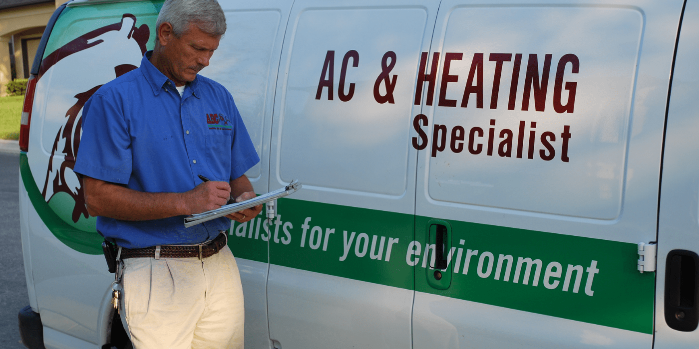 a specialist delivering air filters