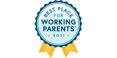 emblem indicating a Best Place for Working Parents award winner