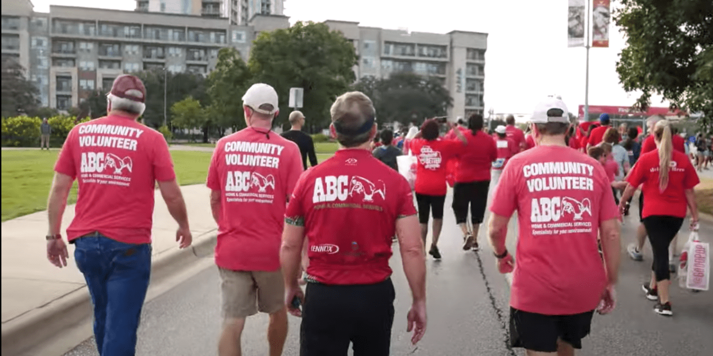 Volunteers from ABC