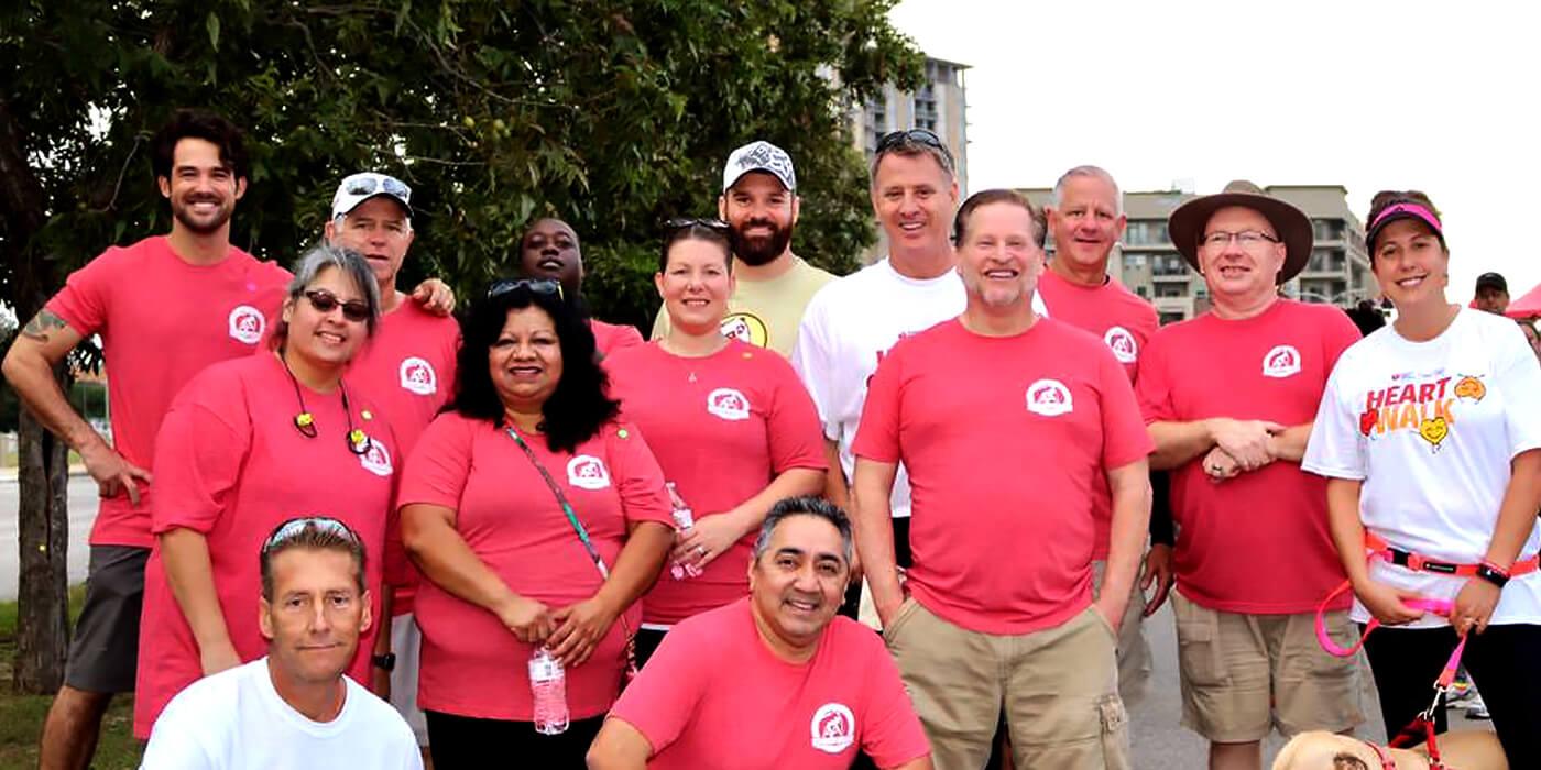 ABC team posing at marathon