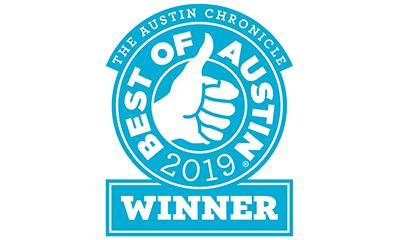 The Austin of Chronicle Best of Austin Winner 2019