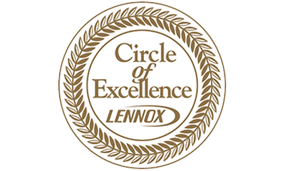logo indicating a winner of the Lennox Circle of Execllence