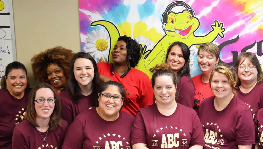 photo of ABC employees volunteering